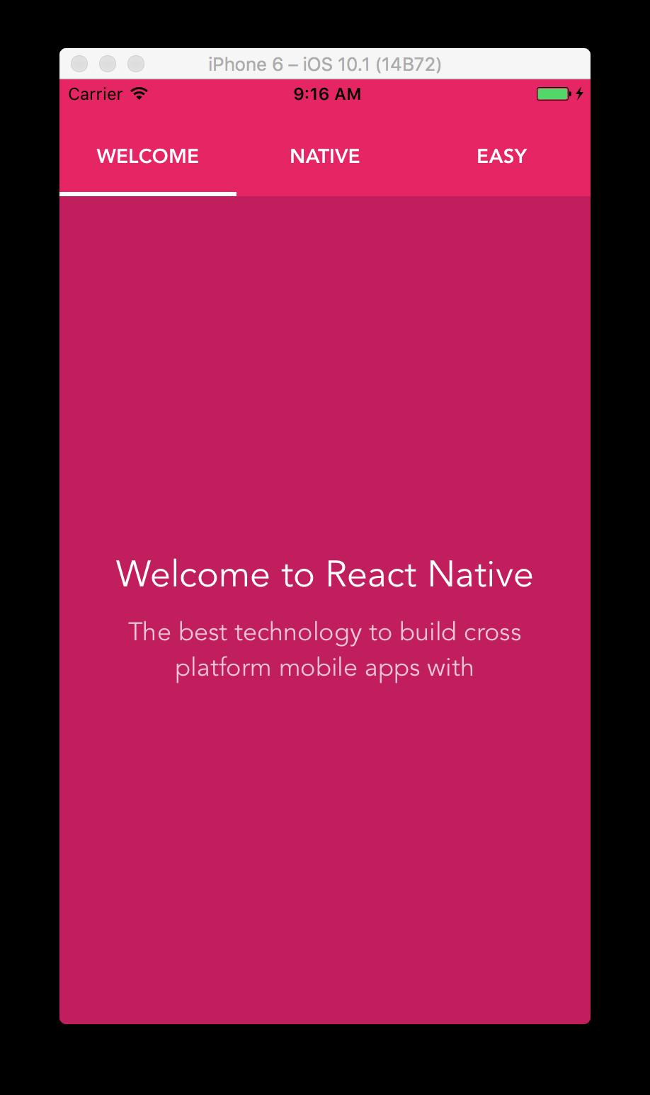 Universal Tab Bar in React Native | Rational App Development